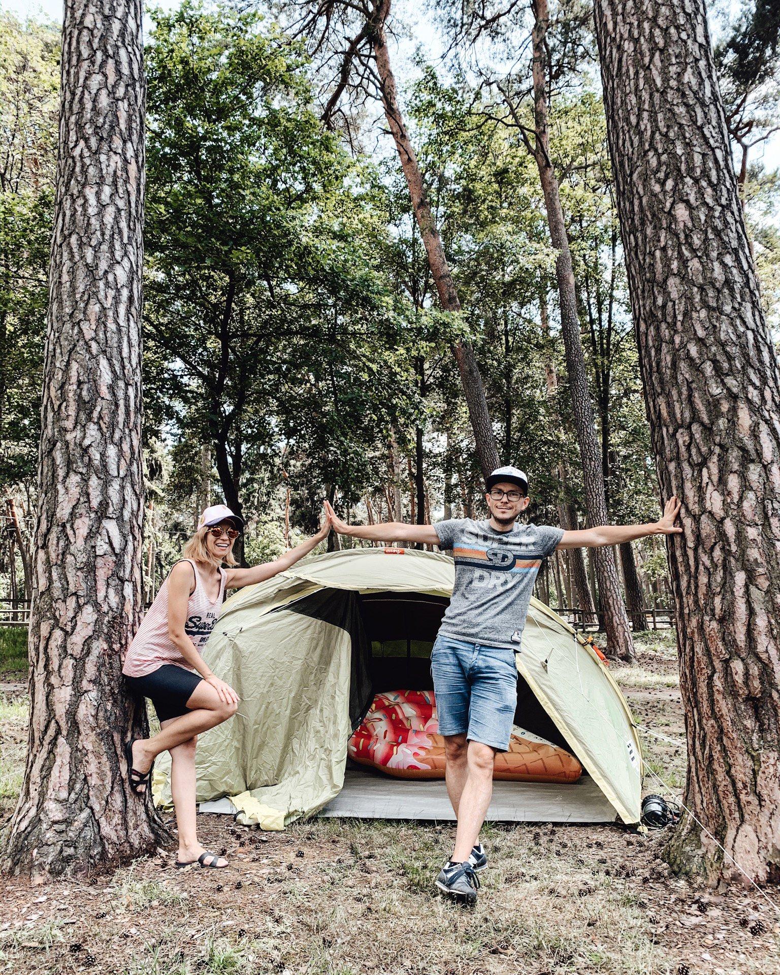 wakacje pod namiotem